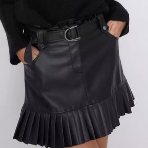 Chic!!! Black Faux Leather Skirt  💋